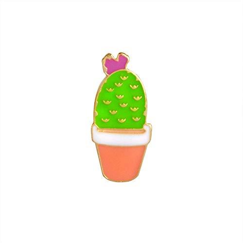 Cactus broche voor vetplanten, aloë vera planten in pot broche button denim mantel badge broche sieraden
