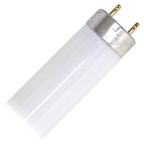 GE Lighting 10415 T8 Straight Extra Life Linear Fluorescent Lamp 17 Watt 2-Pin G13 Base 1300 Lumens 82 CRI 5000K 24 Inch Length Ecolux Starcoat