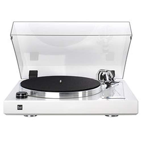 Dual CS 600 Plattenspieler (Klavierlack, Riemenantrieb) weiß (Lieferung ohne Tonabnehmer !!!)