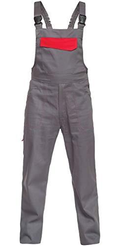 DINOZAVR Delta Herren Arbeitskleidung Arbeitslatzhose - Grau 3XL