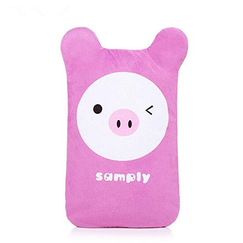 Best Price! Warm Water Bag,2000ML Hot Water Bottle Removable Proof Rubber Fleece Cloth Cover,Pink