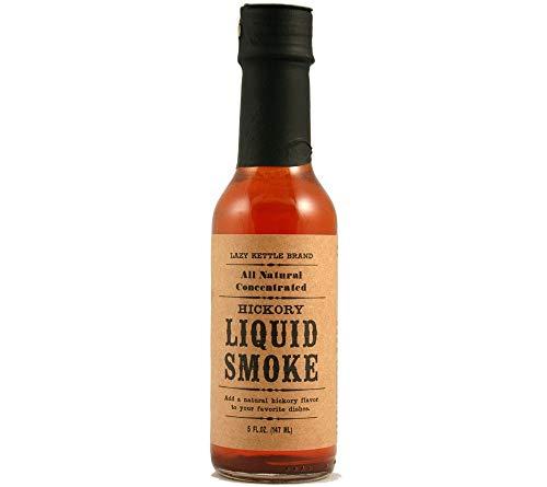 Liquid Smoke Raucharoma von Lazy Kettle Brand (147 ml) - 100% natürlich & ohne Zusatzstoffe - flüssiges Raucharoma aus Hickory-Holz und Mesquite-Holz zum Aromatisieren von Speisen