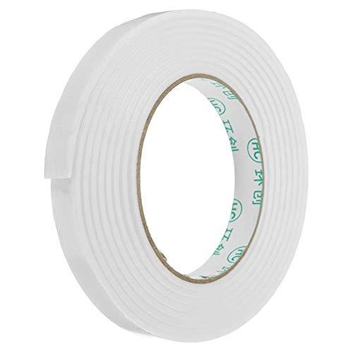 Cinta de Embalar, Fuerte adhesivo de montaje Esponja cinta 5Pcs 1.4cmx3m blanca espuma PE de cinta de doble cara