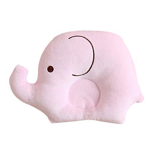 GARLIC PRESS 1Pcs Almohada de Bebé de Fibra de Poliester en Forma de Elefante Almohada Sueve de Dibujo Animado Lindo para Bebé Recién Nacido 0-2 Años (PK)