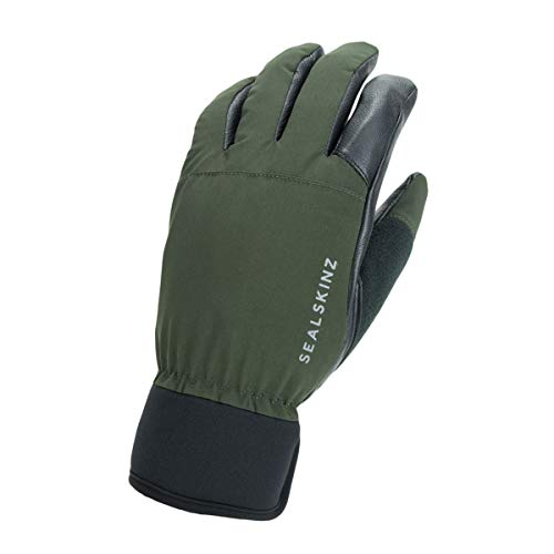 SealSkinz Waterproof All Weather Hunting Glove, Olive Green/Black, S