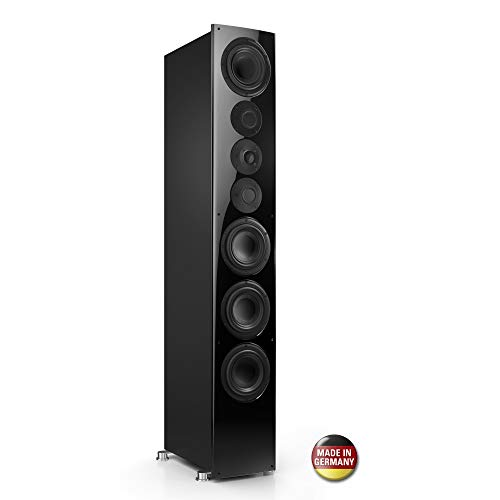 Nubert nuVero 140 Standlautsprecher | Lautsprecher für Stereo | HiFi Qualität auf höchstem Niveau | passive Standbox mit 3.5 Wege Technik Made in Germany | High End Standlautsprecher Schwarz | 1 Stück