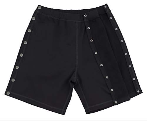 Post Surgery Tearaway Shorts - Men's - Women's - Unisex Sizing Black