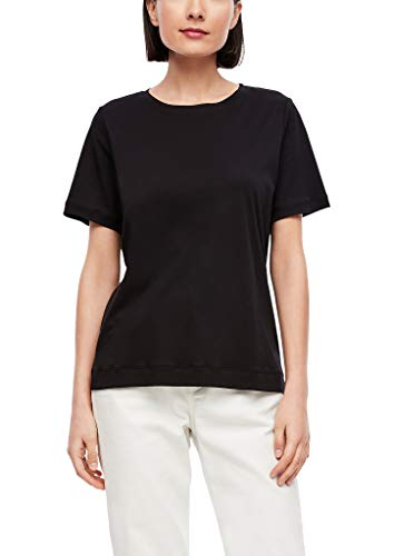 s.Oliver Damen Jerseyshirt in Unicolor Black 46