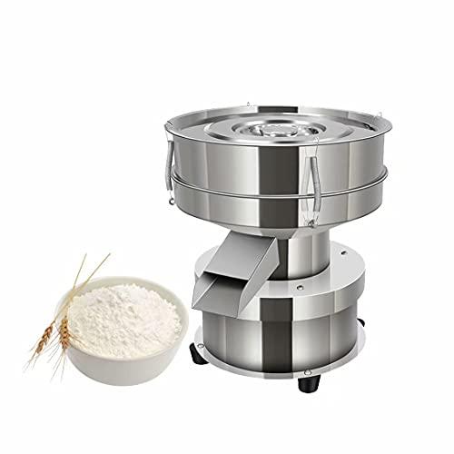 MILsEnse Elektrische Vibrationssiebmaschine Automatischer Siebschüttler 1350 N/min Siebschüttelmaschine Enthalten 40 Mesh + 60 Mesh Mehlsieb für Reis- und Mehlpulverpartikel