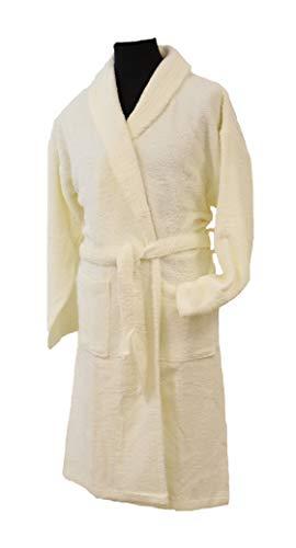 Linandelle badjas, badstof, unisex, ivoorkleurig