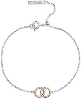 Olivia Burton Women'S Brass Silver Chain Bracelets -OBJCOB28