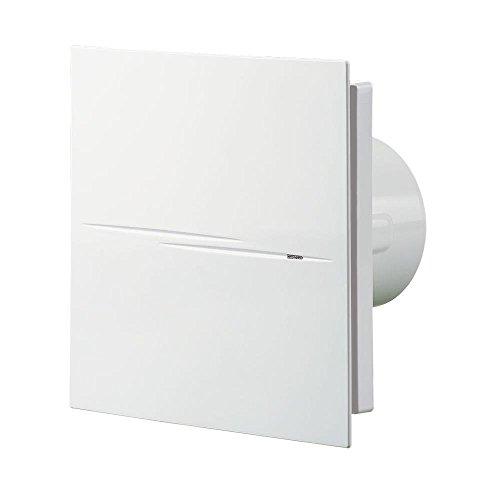Der Lüfter / Badlüfter / Ventilator / ORIGINAL VENTS 100 QUIET-STYLE STANDARD / sehr leise 24/26 dB(A) / 100 mm / 90/ 99m³/h / 7,5W energiesparend / Kugellager / Dämpfer / Rückschlagklappe / IMMER NEUESTE VERSION / ORIGINAL WARE