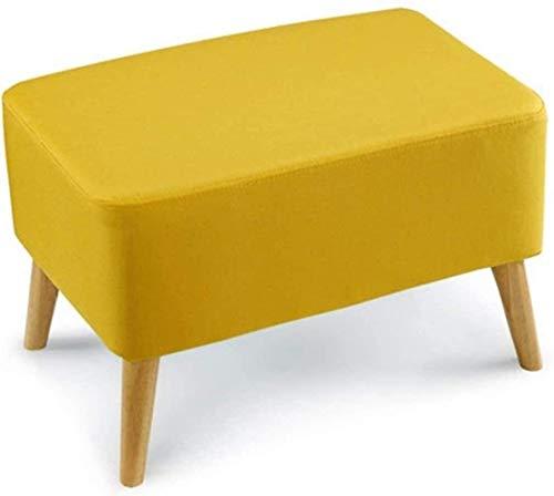 Stuhl Sofa Hocker Bett Hocker quadratisch Fuß Test Schuhbekleidung Schuhhocker Wechsel Schuhhocker Wohnzimmer Hocker Stoff (Farbe: Grün), Farbe: Grau gelb