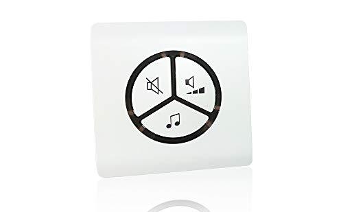 Receptor adicional para timbre inalámbrico ✮ CariSmart ✮ ultra fino + 25 melodías + modo silencio + 100 metros de alcance + garantía de 3 años. Timbre receptor CariSmart 220V (individual)