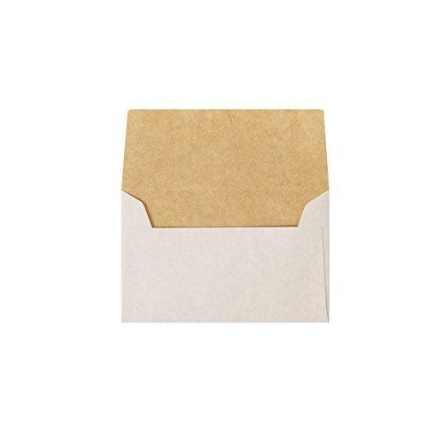 NE カマス 封筒 ホワイト クラフト 100枚入 ( 名刺 が入るサイズ)
