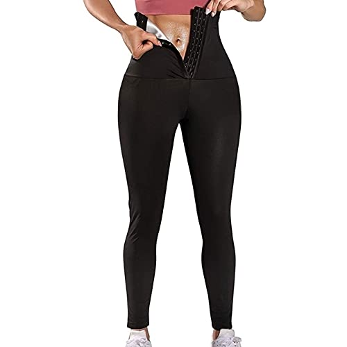 Yokbeer Pantalones de Sauna/Yoga Adelgazantes Mujer NANOTECNOLOGÍA, Leggins Reductores Adelgazantes, Leggins Anticeluliticos Cintura Alta, Mallas Fitness Push Up para Deporte Running Yoga Gym