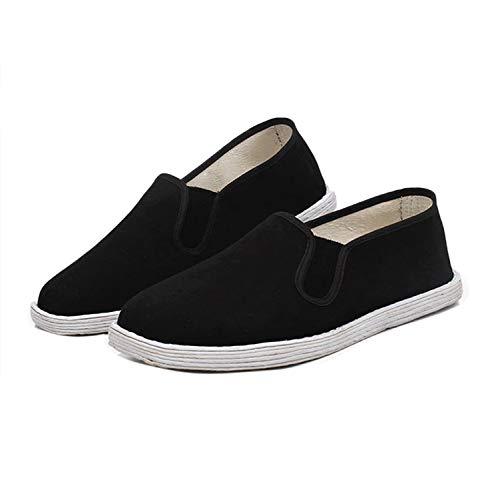 Nanxson Suela Hecha a Mano Tai Chi/Kung Fu Comodidad Formación Zapatos Mocasín TJX0003 (37.5 EU-37CN, Negro)