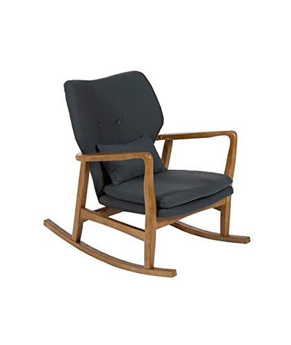 Grijze gestoffeerde schommelstoel