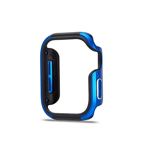 LGFCOK Mire el Estuche Compatible para la Serie de Aluminio de Apple Watch Series 5 4 44 / 40mm de aleación de Aluminio + Cubierta Protectora de TPU A Prueba de choques de Parachoques para iWatch