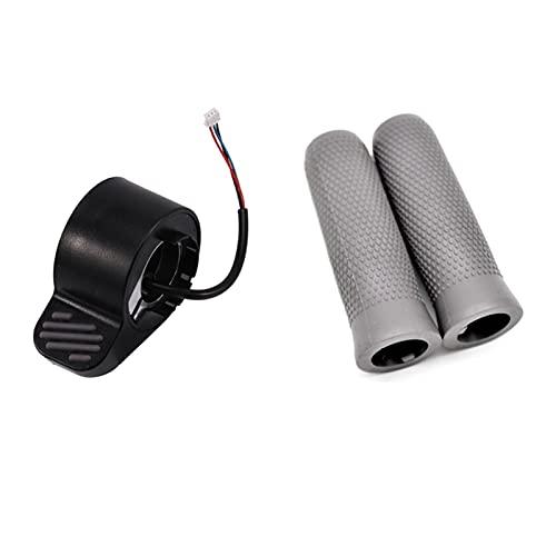 CAIFEIYU 2 Configurar Accesorios Scooter: 1 Set Handlebar Piezas de empuñadura y amp;1 PCS Frenos eléctricos (Color : Grey Black)