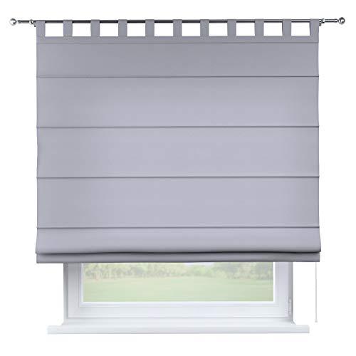 Dekoria Raffrollo Verona ohne Bohren Blickdicht Faltvorhang Raffgardine Wohnzimmer Schlafzimmer Kinderzimmer 100 × 170 cm grau Raffrollos auf Maß maßanfertigung möglich