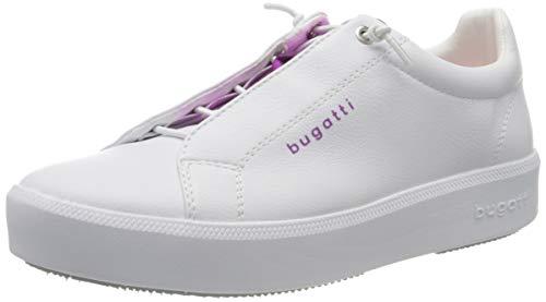 bugatti 4324076a5059, Zapatillas sin Cordones Mujer, Blanco (White/Pink 2036), 42 EU