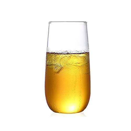 WxberG [Paquete de 2, 13 onzas] copas de champán sin tallo, vasos para beber, cristalería multiusos para beber vino. (Tamaño: 400 ml/13 onzas)