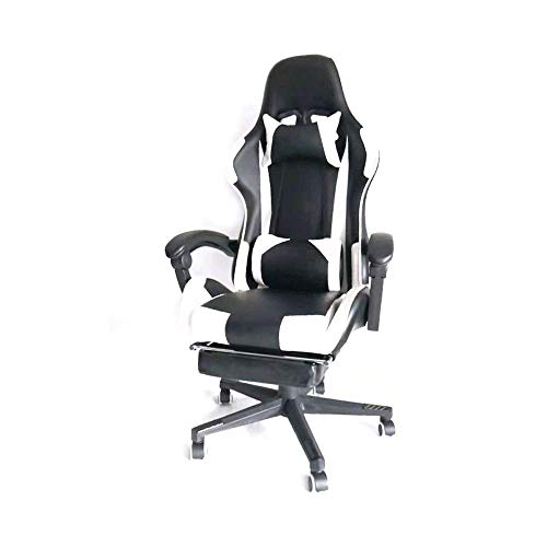 WSDSX Office Chairs Gaming Chair Racing Computer Chair Ergonomic Gaming Chairs Adult with Footrest High Back with Lumbar Cushion