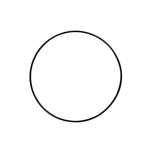 Rayher 2505101 Metallring, schwarz beschichtet, 15 cm ø, Stärke ca. 3 mm, Drahtring zum Basteln, für Wickeltechnik, Traumfänger Ring, Makramee Ring, Floristik