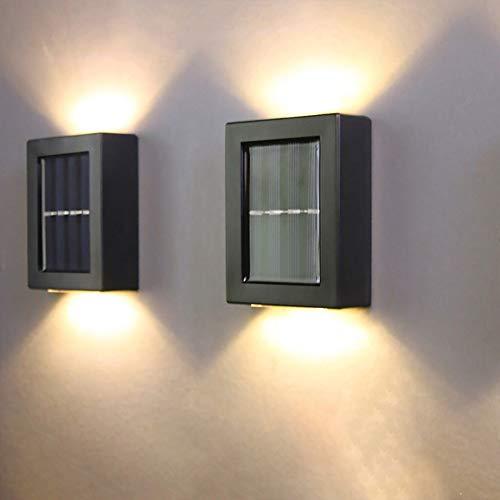 2 lámparas de pared LED para exterior e interior, resistentes al agua, luz solar, lámpara de pared inteligente, control de luz, inducción, lámparas decorativas de pared