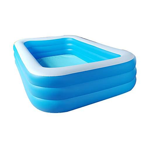 Deluxe Rechteckiger Familien-Pool, 388 * 200 * 68cm Aufblasbare Pools/Planschbecken