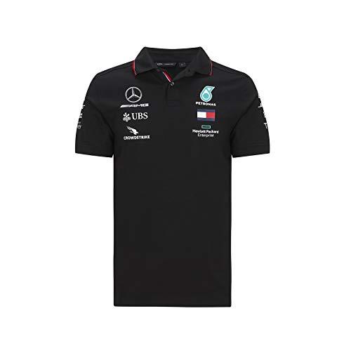 Formula 1 Herren-Poloshirt, Scuderia Ferrari, Rot, Größe XS, Herren, Mercedes-AMG Petronas F1 - Team Polo 2020, schwarz, X-Small