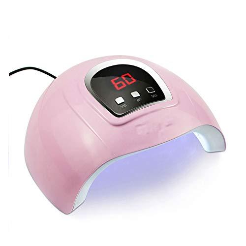 SFLRW Lámpara de uñas LED 54W, luz de pulidor de gel de secador de uñas, con 3 configuraciones de temporizador, Secador LED de gel de curado de esmalte de uñas, herramientas profesionales de arte de u