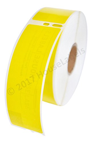 """2 Rolls; 350 Labels per Roll Compatible with DYMO 30252 Yellow Address Labels (1-1/8"""" x 3-1/2"""") - BPA Free!"""