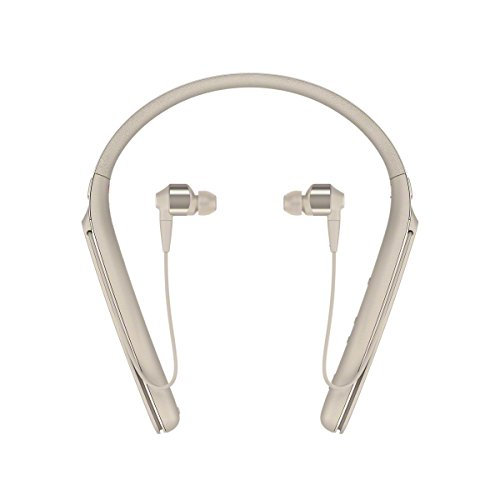 Sony WI-1000X kabelloser Bluetooth Hi-Res In-Ohr Kopfhörer, Noise Cancelling, Headset, Freisprecheinrichtung, Amazon Alexa, 10h Akku, gold