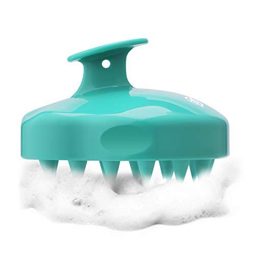 Shampoo Brush Hair Scalp Massager FReatech Wet amp Dry Hair Scalp Massage Brush Soft Silicone Comb for Men Women Kids and Pets  Green