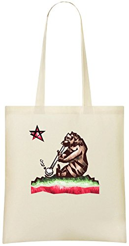 Kalifornien Reefer - California Reefer Custom Printed Shopping Grocery Tote Bag 100% Soft Cotton Eco-Friendly & Stylish Handbag For Everyday Use Custom Shoulder Bags
