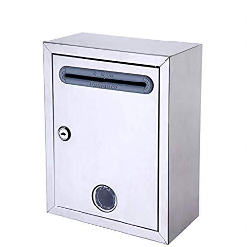 CCSLE Diebstahlsicherer Briefkasten Edelstahl Kleine Briefkasten-Vorschlagbox für Sichere Fashion Garden Outdoor Briefkasten