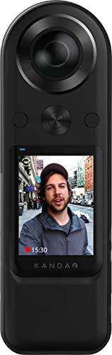 KANDAO QooCam 8K Enterprise con cámara de Vista Completa HDMI para transmisión en Vivo, Video de vlogging y Foto de Vista Completa con F2.0 1/1.7 con cámara Digital Compatible con 5G