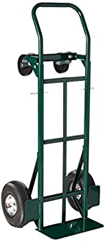 Super-Steel Convertible Hand Truck, Dual Purpose 2 Wheel Dolly and 4 Wheel Cart by Harper Trucks