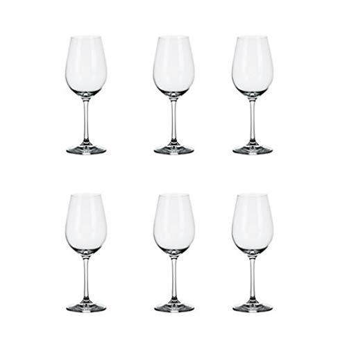 ZRJ Juego de copas de vino tinto transparente para copas de vino tinto, regalo duradero para fiestas de inauguración de la casa y Navidad (Cantidad: 6)