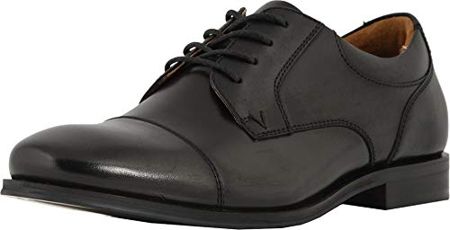Vionic Men's Spruce Shane Oxford - Leather Dress Shoes with Concealed Orthotic Arch Support Black 7 M US