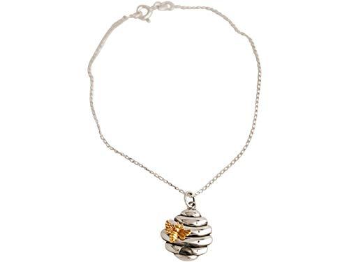 Gemshine pulsera con Unicornio de plata de ley maciza con cadena. En plata rodiada, chapada en oro o en oro rosa de 18k. Hecho a mano en España. Estuche de regalo, Color del Metal Plata:Silber