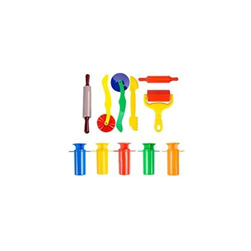 FEDSJUIHYG 11 Pcs Plástico Durable Plastilina Colorido Herramientas Extrusoras Básico De Masa Divertido Plastilina Plastilina Y Jardín Instrumento De Plástico