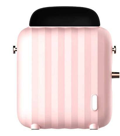 XIANGAI Calefactor Pequeños electrodomésticos Ventilador Calentador eléctrico en posición Vertical portátil 400 W Mini Calentador con Dos ajustes de Calor y termostato sa.(Color: Rosa), Color: Blanco