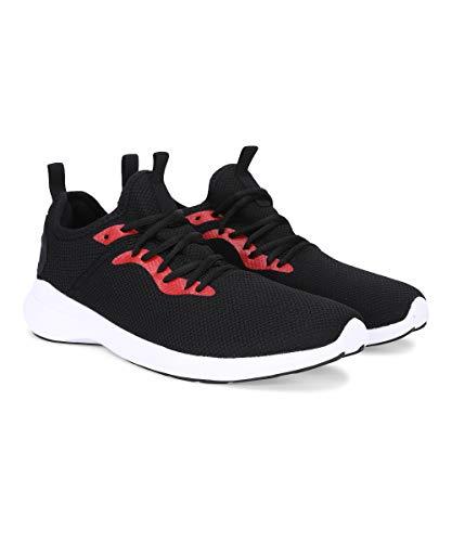 PUMA Corode IDP Men's Running Shoes Black-High Risk Red 8 Kids UK (37310101)