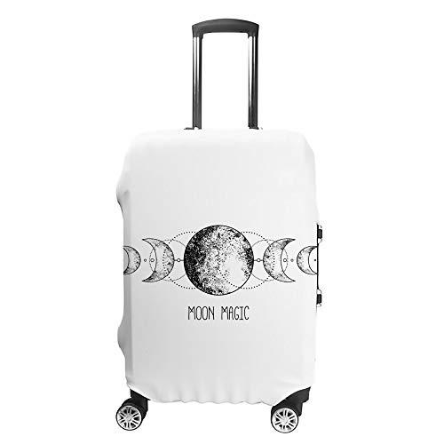 Ruchen - Funda Protectora para Maleta con diseño de Triple Luna Wicca y símbolo...