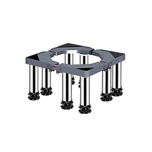 Justerbar trumtvättmaskin Basförhöjd 29-32cm Teleskopiska möbler torktumlare och kylskåp golvbrickor Längd/bredd 40-65cm växtbehållare golvbrickor 4/8 ben