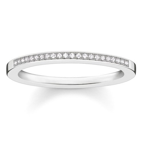 Thomas Sabo Damen-Ring Glam & Soul 925 Silber Diamant (0.05 ct) weiß Gr. 52 (16.6) - D_TR0006-725-14-52