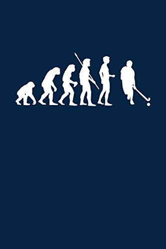 Evolution Hockeyspieler: Notizbuch / Notizheft für Hockey Hockey-Fan A5 (6x9in) dotted Punktraster